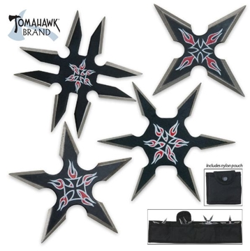 Picture of Black Chopper Throwing Star Set