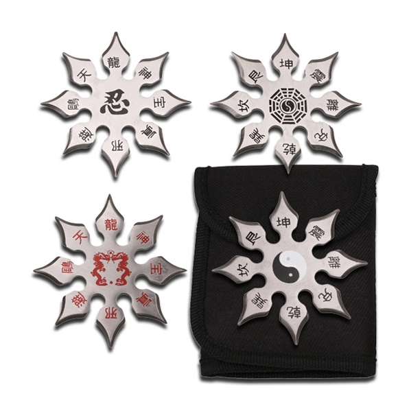 Picture of Medium Chinese Throwing Star Set