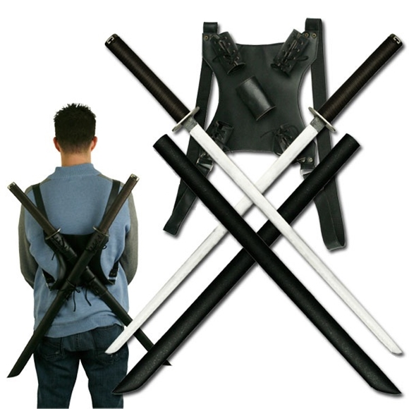 Picture of Twin Ninja Katana Sword Set with Back Strap