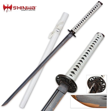 Picture of Shinwa White Knight Ninja Katana Sword Damascus