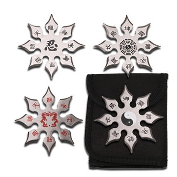 Picture of Large Chinese Throwing Star Set