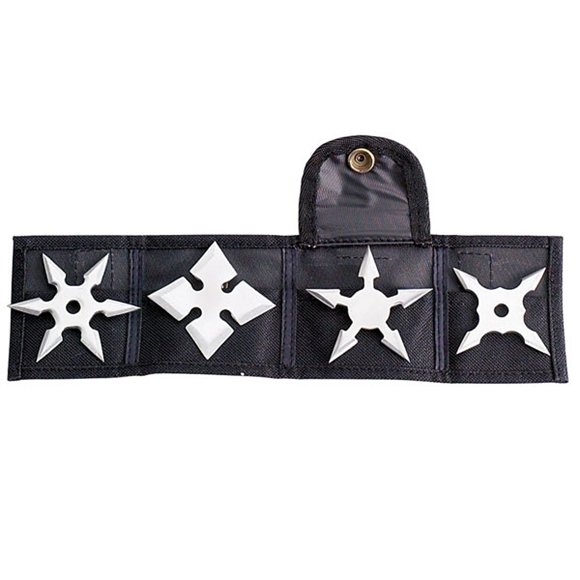 Picture of Stealthy Silver Throwing Star Set