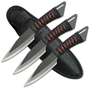 Picture of Red Ninja Throwing Knife Set