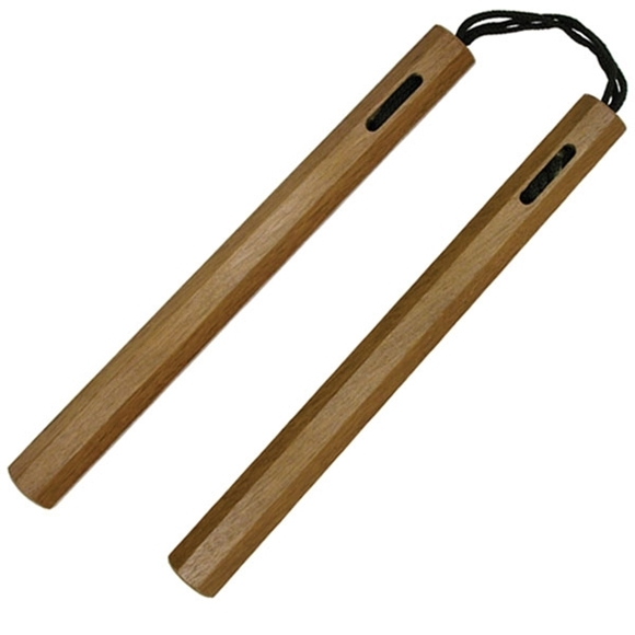 Picture of Hardwood Ninja Nunchaku with Rope