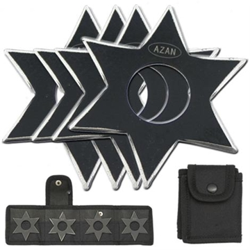 Picture of Dark Ninja Throwing Star Set