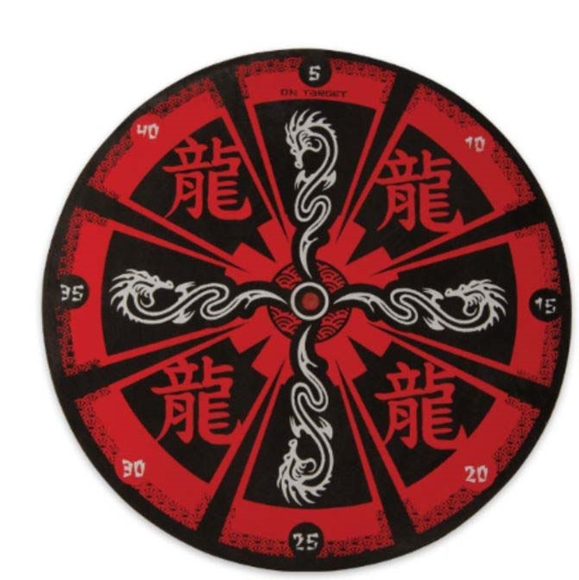 Picture of Red Dragon Throwing Target