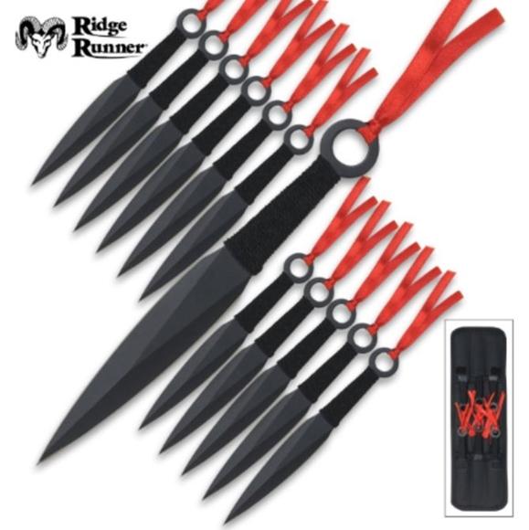 Picture of Ridge Runner 12 Piece Kunai Throwing Knife Set