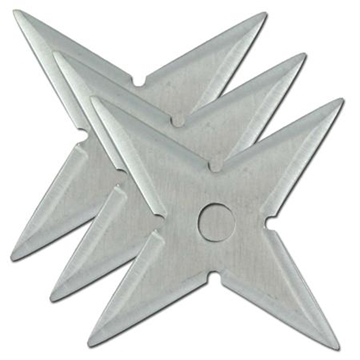 Picture of Naruto Shuriken Silver Throwing Star Set