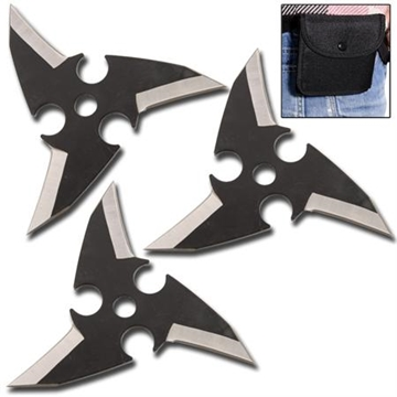 Picture of Dragon's Eye Ninja Throwing Star Set