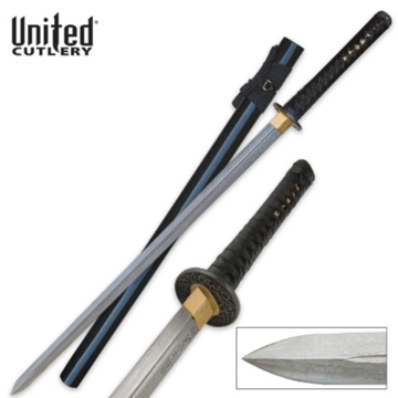 Picture of United Cutlery Black Ikazuchi Forged Damascus Katana