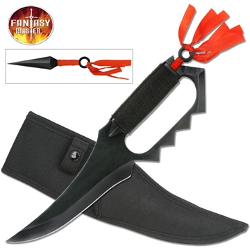 Picture of Fixed Blade Knuckle Guard Knife With Hidden Kunai