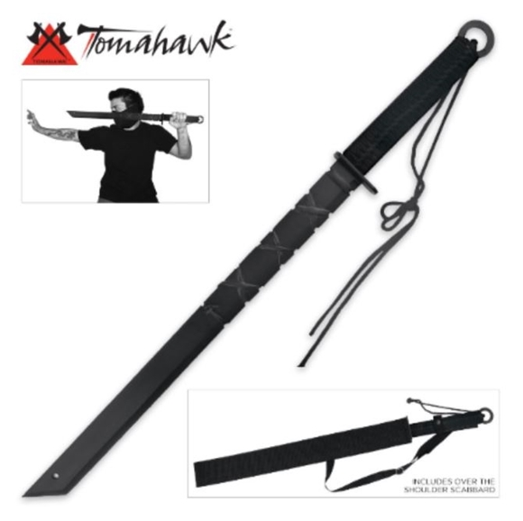 Picture of Black Full Tang Ninja Sword