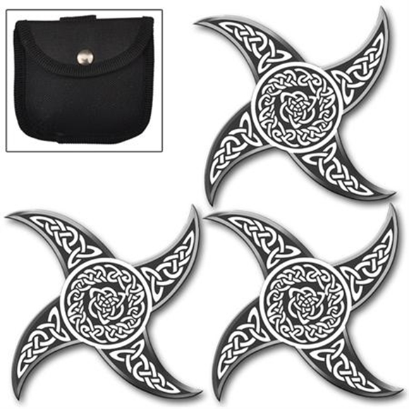 Picture of Power of the Triquetra Ninja Throwing Star Set