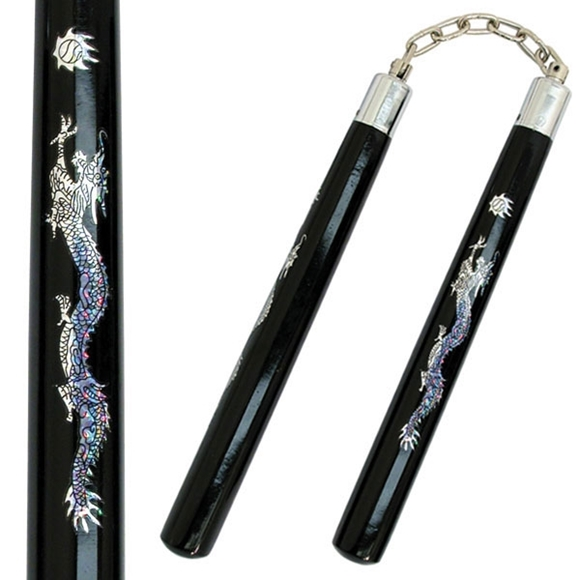 Picture of Dragon's Pearl Wood Nunchucks