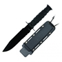 Picture of Serrated Blade Black Neck Knife With Sheath