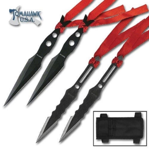 Picture of 4 Piece Samurai Ninja Throwing Knives Set