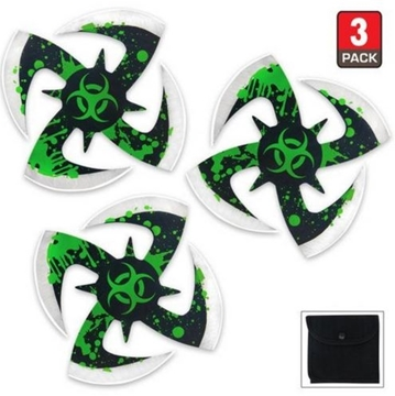 Picture of Biohazard Ninja Throwing Stars 3pc Set