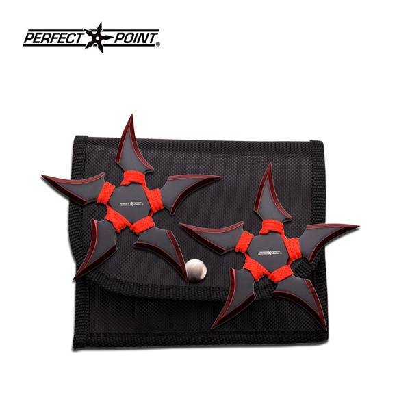Picture of Red Talons of Iris Ninja Shuriken Set