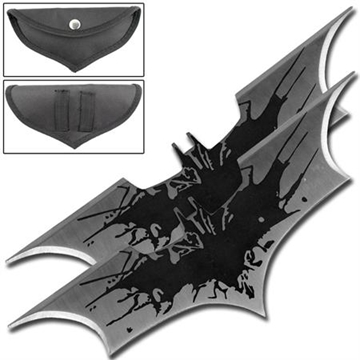 Picture of Black Splash Bat Throwing Star Set of 2