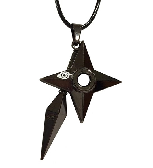 Picture of Hidden Leaf Kunai and Shuriken Necklace