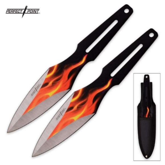 Picture of Perfect Point Two Piece Throwing Knife Flame Set