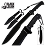 Picture of Black Legion Ninja Machete & Throwing Knife Set With Sheath