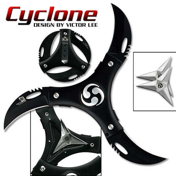 Picture of Victor Lee Cyclone 3 Blade Folding Ninja Star