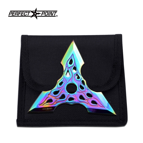 Picture of Flaming Triad Ninja Shuriken Throwing Star