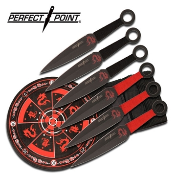 Picture of Perfect Point Flying Dragon Throwing Knife Set & Target