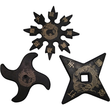 Picture of Rubber Ninja Throwing Star Set of 3