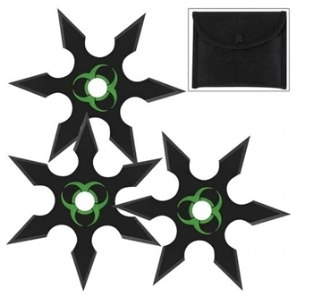 Picture of Zombie Genocide Shuriken Throwing Star Set